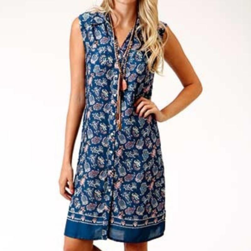 Roper | Paisley Rayon Dress