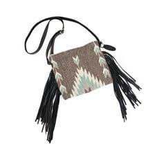 Manos Zapotecas | Smoky Quartz Fringe Bag