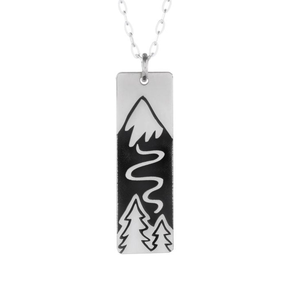 The Bearded Jeweler The Bearded Jeweler    Winter Ski Slope Wide Bar Necklace