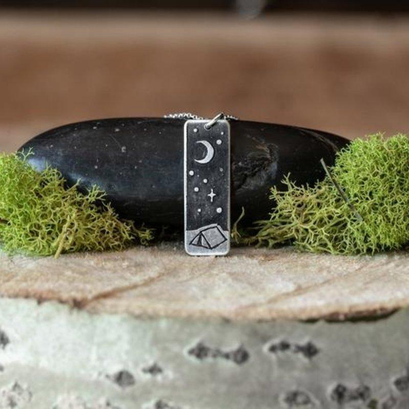 The Bearded Jeweler Night Outdoors Mini Necklace