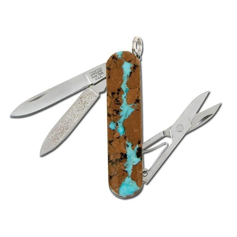 Santa Fe Stoneworks Santa Fe Stoneworks | Vein Turquoise Scissors Knife | Single