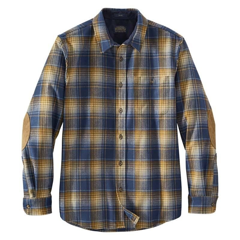 Pendleton Trail Shirt | Blue + Tan Plaid