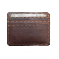 Rugged Earth   Leather Credit Card Wallet   Brown