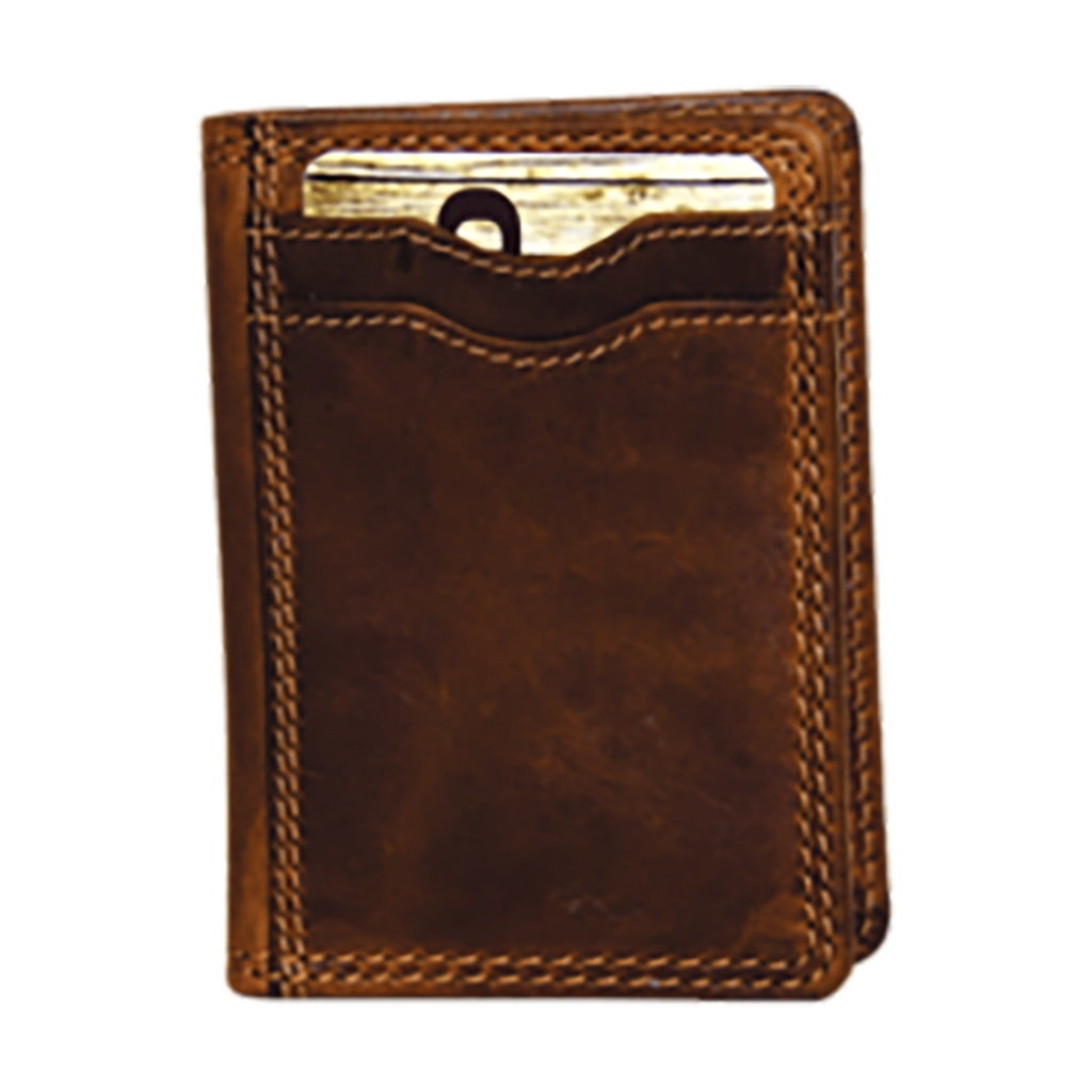 Rugged Earth | Folding Leather Credit Card Wallet | Brown