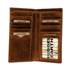 Rugged Earth | Tall Leather Wallet | Brown
