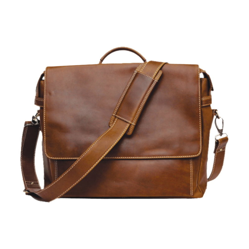 Leather Briefcase | Brown