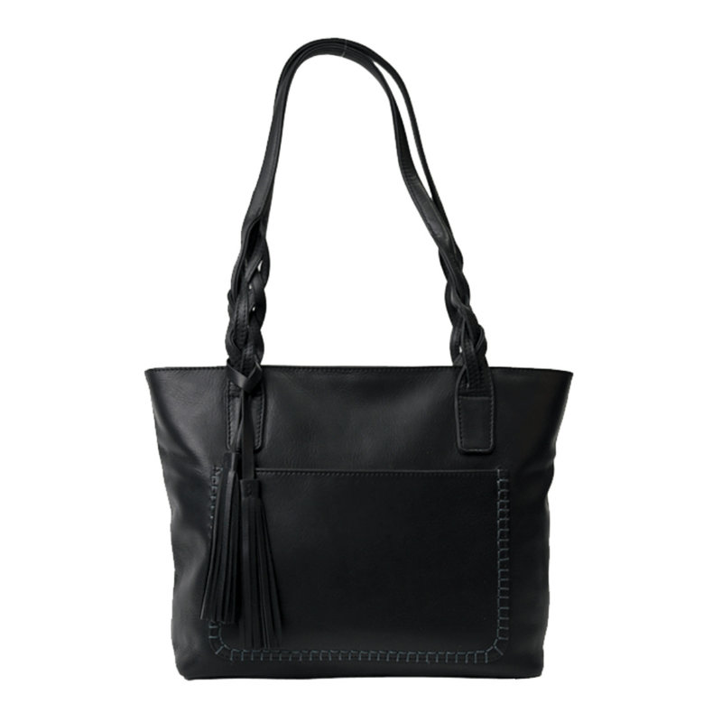 Rugged Earth   Women's Leather Tote   Black