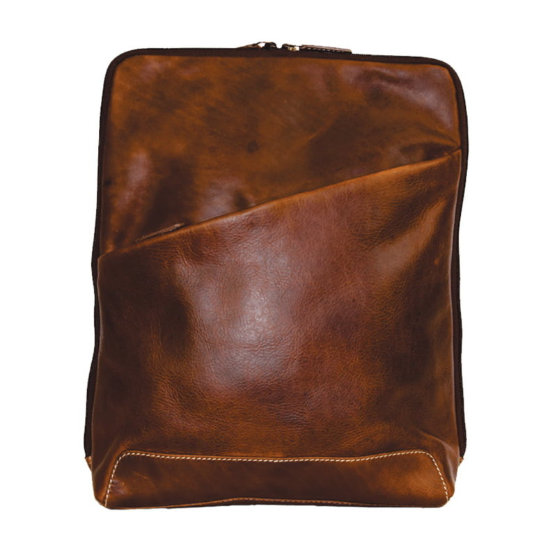 Rugged Earth   Leather Backpack   Brown