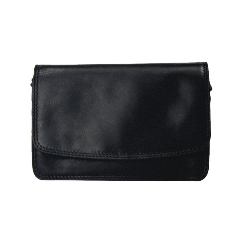 Leather Organizer Purse | Black