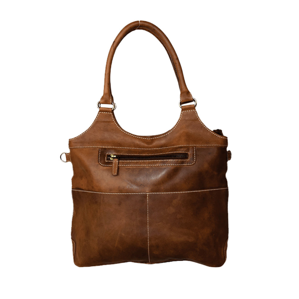 Rugged Earth   Large Leather Tote Bag   Brown