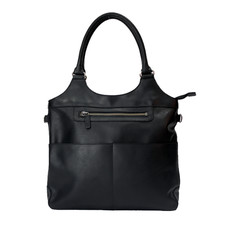 Rugged Earth | Large Leather Tote Bag | Black
