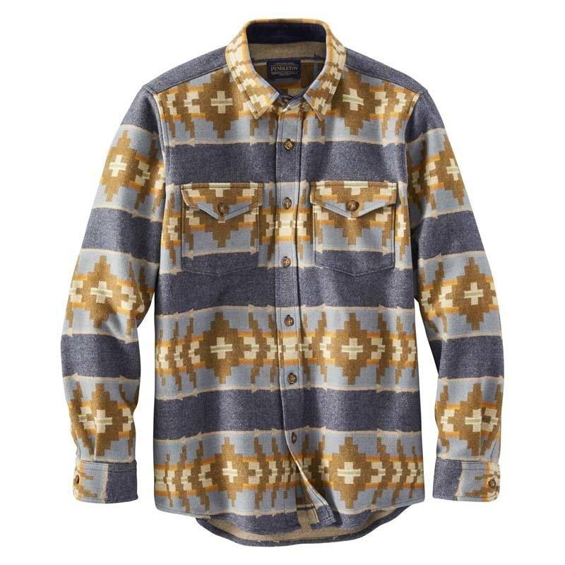 Pendleton Pendleton | La Pine Overshirt | Banded Stripe Navy Mix