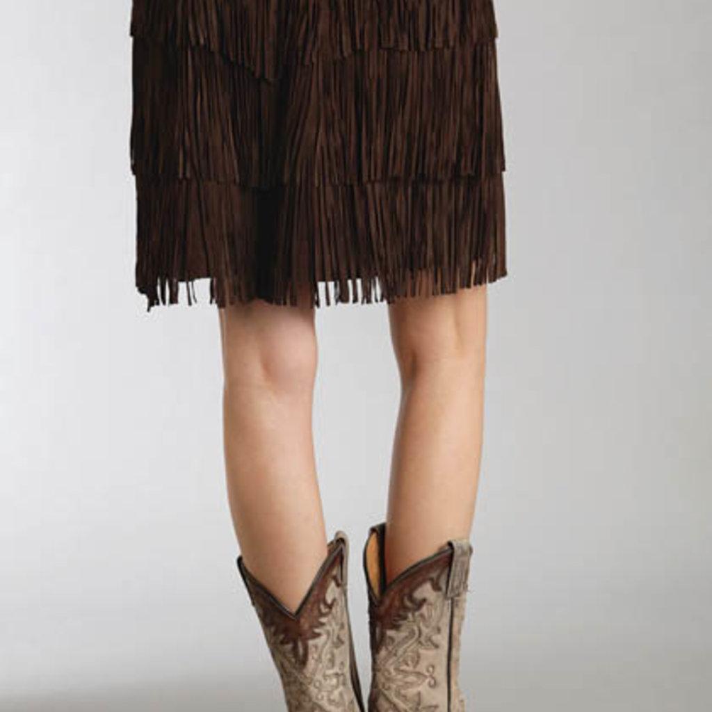 Stetson | Suede Fringe Skirt | Brown