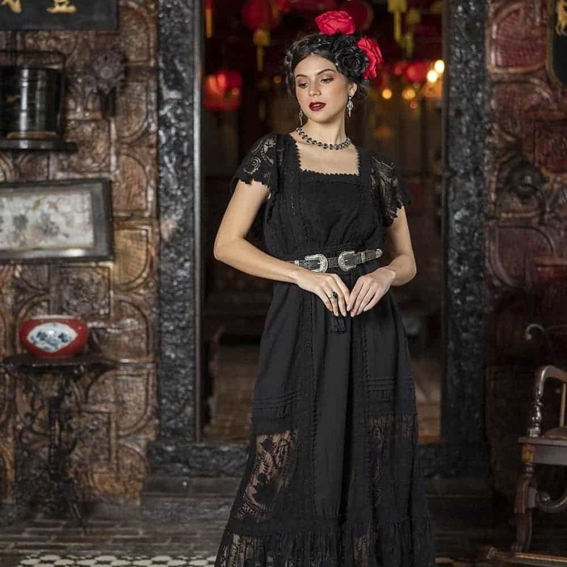 Tulle and Batiste Tulle and Batiste | Frida Maxi Dress | Moonless Black