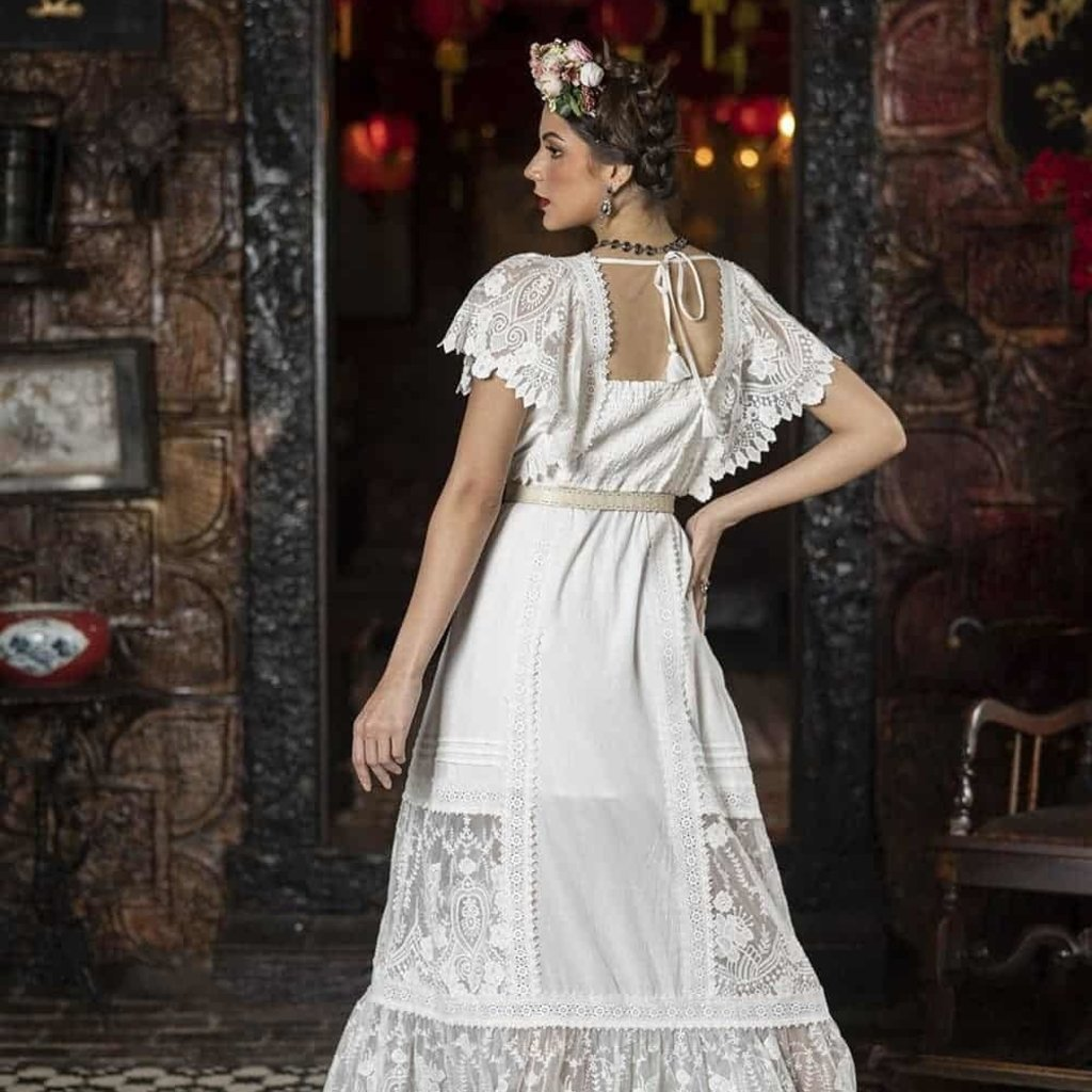 Tulle and Batiste Tulle and Batiste | Frida Maxi Dress | Snow White