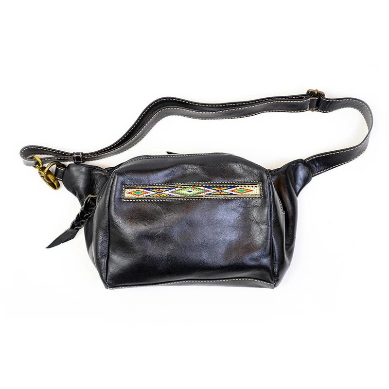 Native Waxed Leather Hip Bag | Black