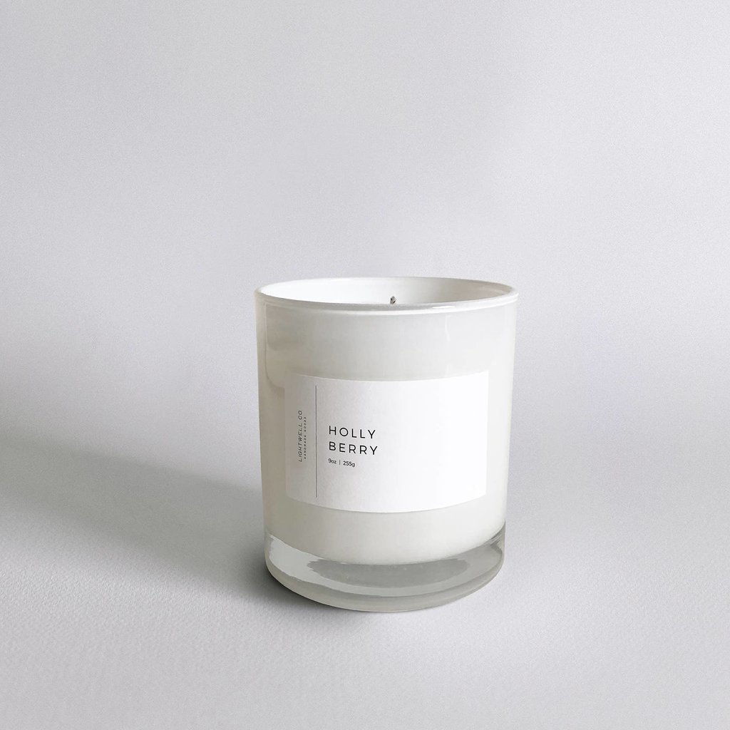 Lightwell Co. Lightwell Co. | White Tumbler Candle | Holly Berry