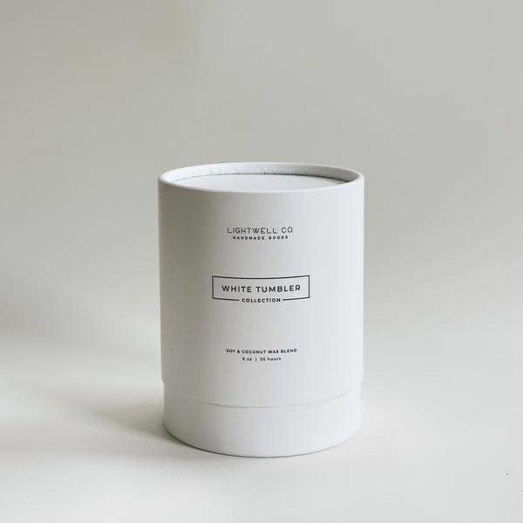 Lightwell Co. Lightwell Co.   White Tumbler Candle   Frasier Fir