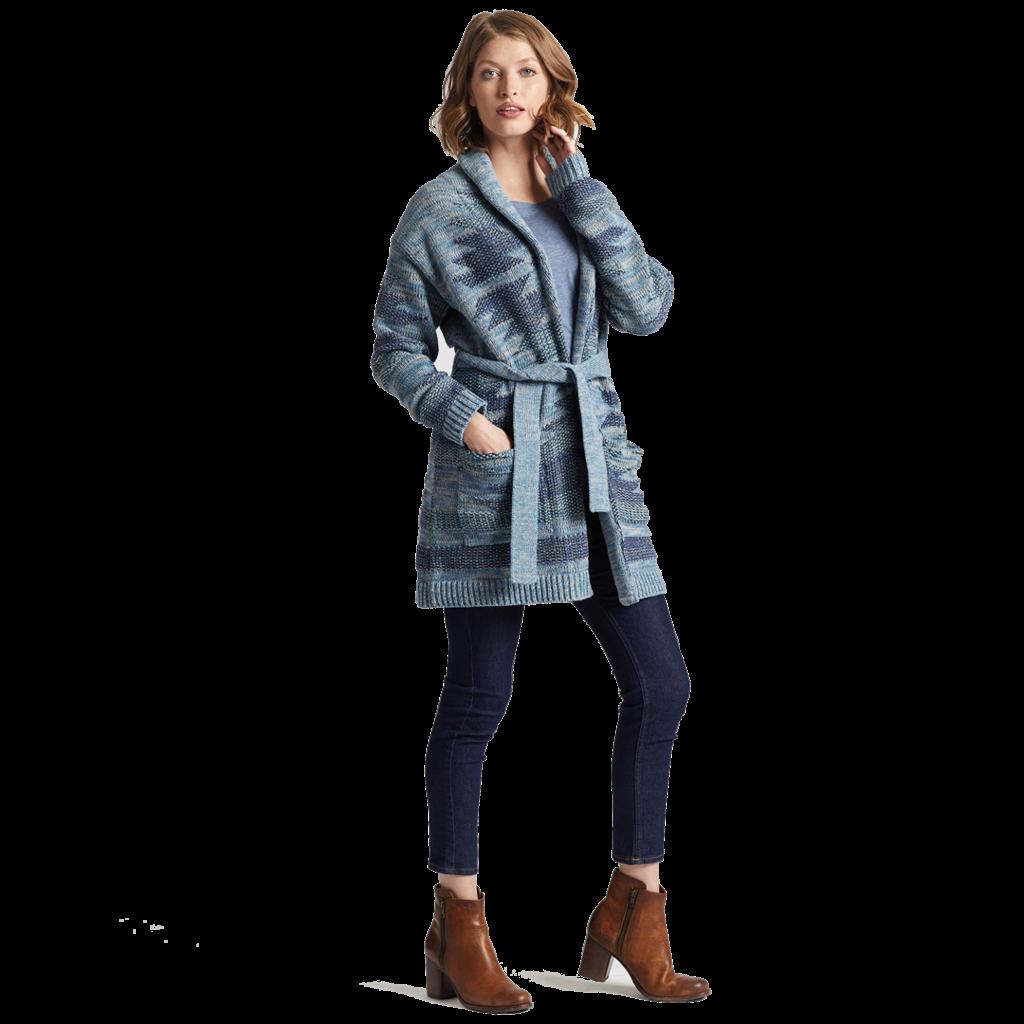 Pendleton Monterey Belted Cardigan | Blue Multi