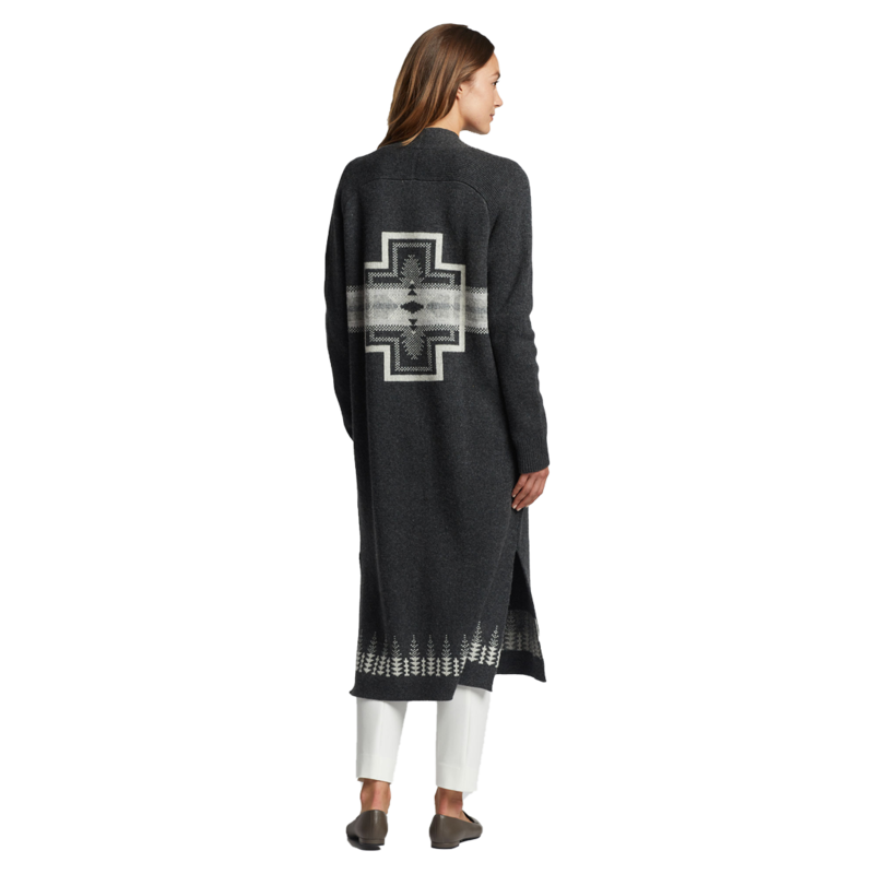 Pendleton Long Duster Sweater | Charcoal Multi