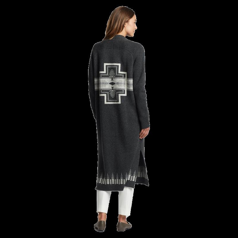 Pendleton Pendleton   Long Duster Sweater   Charcoal Multi
