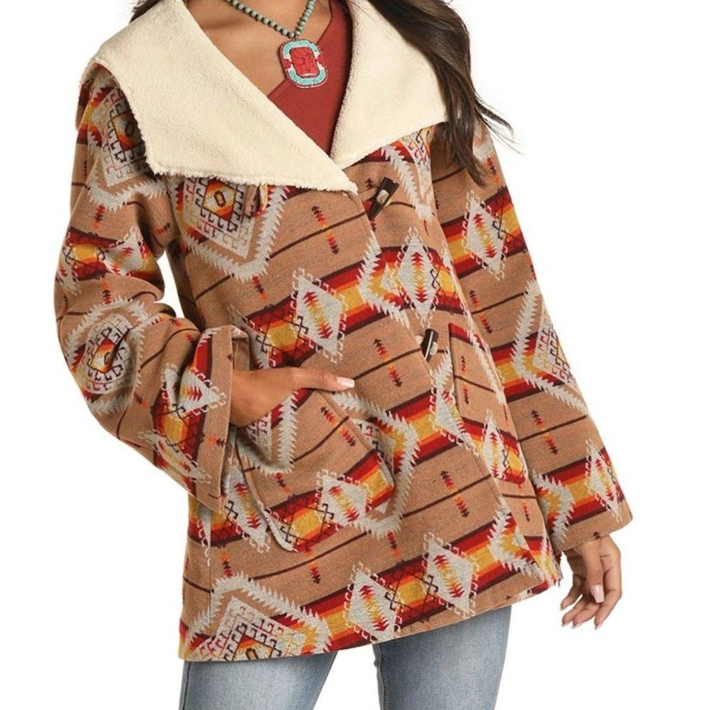Rock & Roll Cowgirl   Jacquard Ladies Coat   Aztec