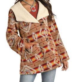 Jacquard Ladies Coat   Aztec