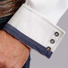 Stetson | Snap Western Poplin Shirt | White