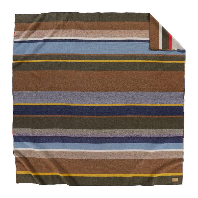 Pendleton Napped Dobby Twin Blanket | Bridger Stripe