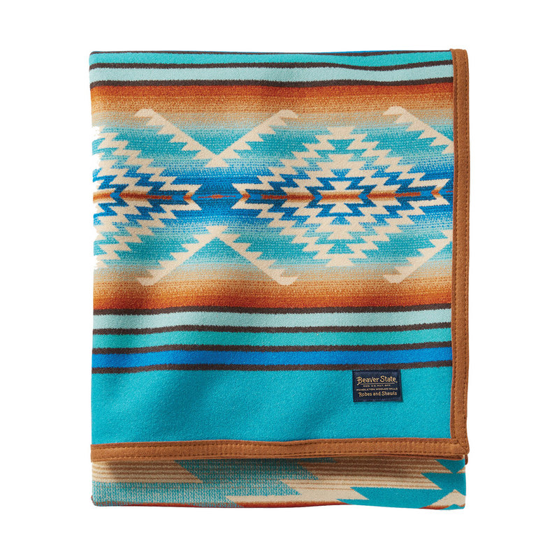 Pendleton Jacquard Unnapped Robe | Twin | Pagosa Springs | Turquoise