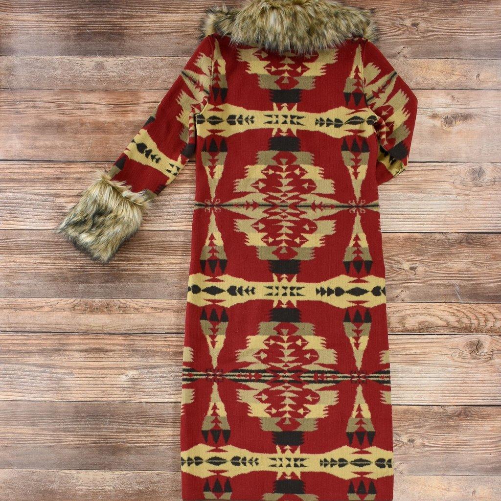 Tasha Polizzi | Frontier Blanket Coat | Cardinal