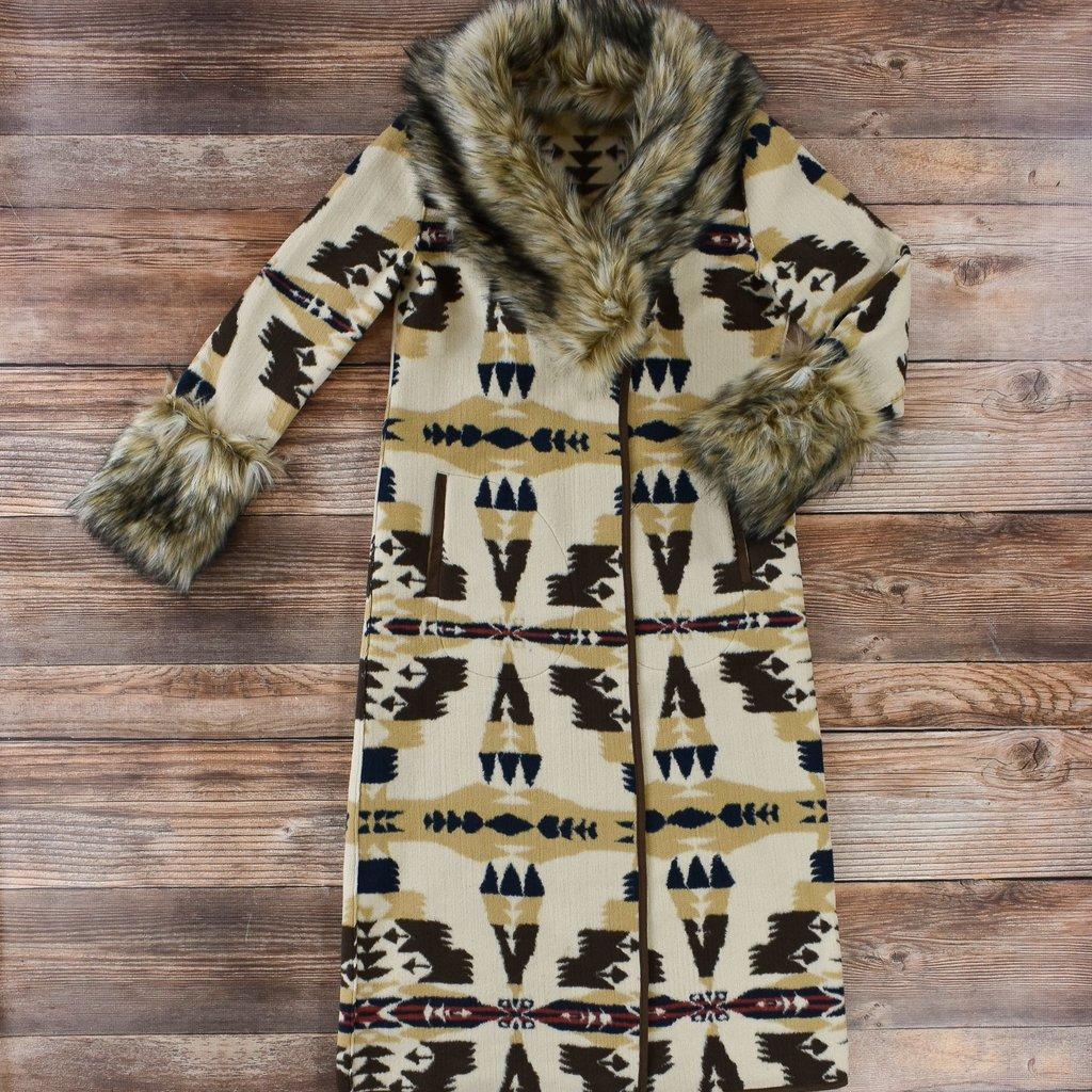 Tasha Polizzi   Frontier Blanket Coat   Cashmere