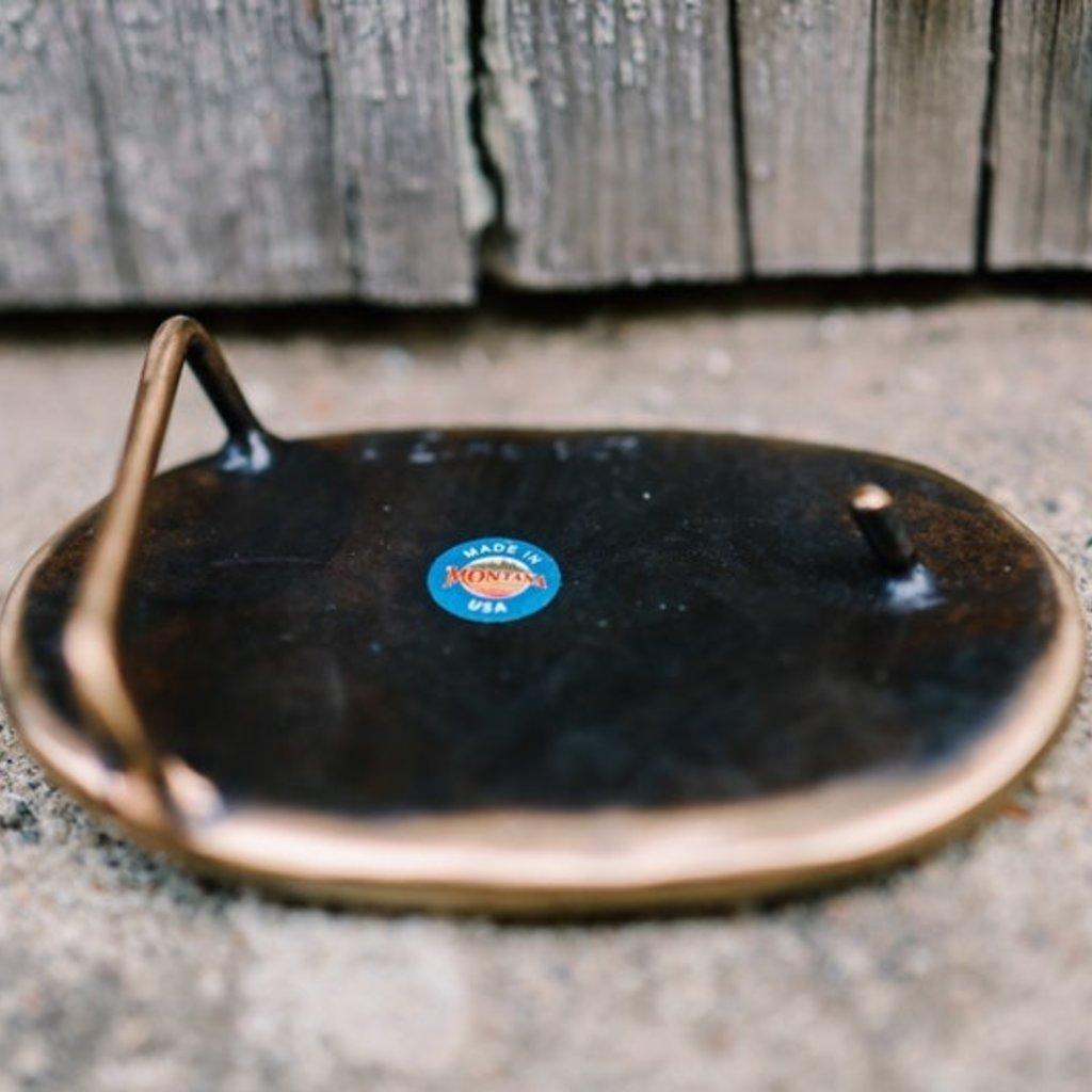 Waterhorse Bronze Designs Waterhorse Bronze   Buffalo Head Oval Belt Buckle