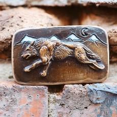 Waterhorse Bronze Designs Waterhorse Bronze   Wolf Mountain Belt Buckle