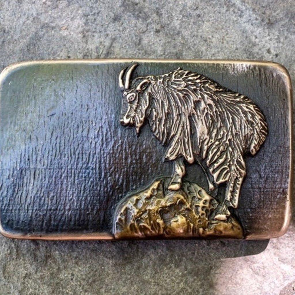 Waterhorse Bronze Designs Waterhorse Bronze | Mountain Goat Belt Buckle