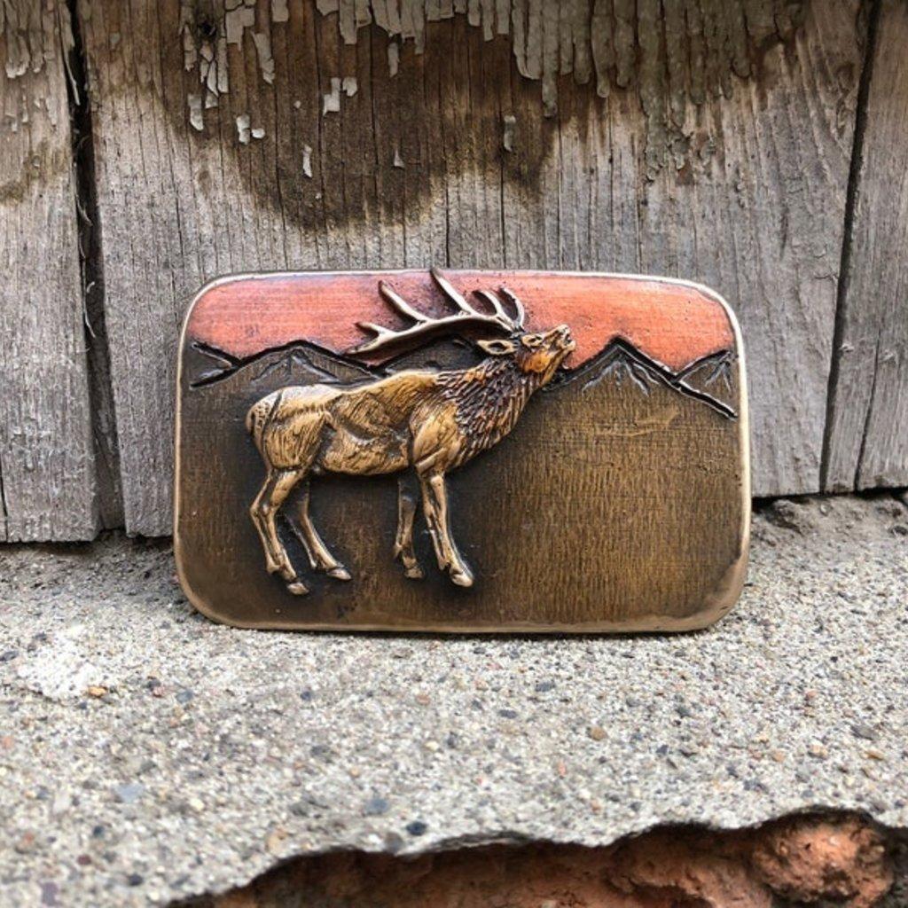 Waterhorse Bronze Designs Waterhorse Bronze | Elk Mountain Belt Buckle