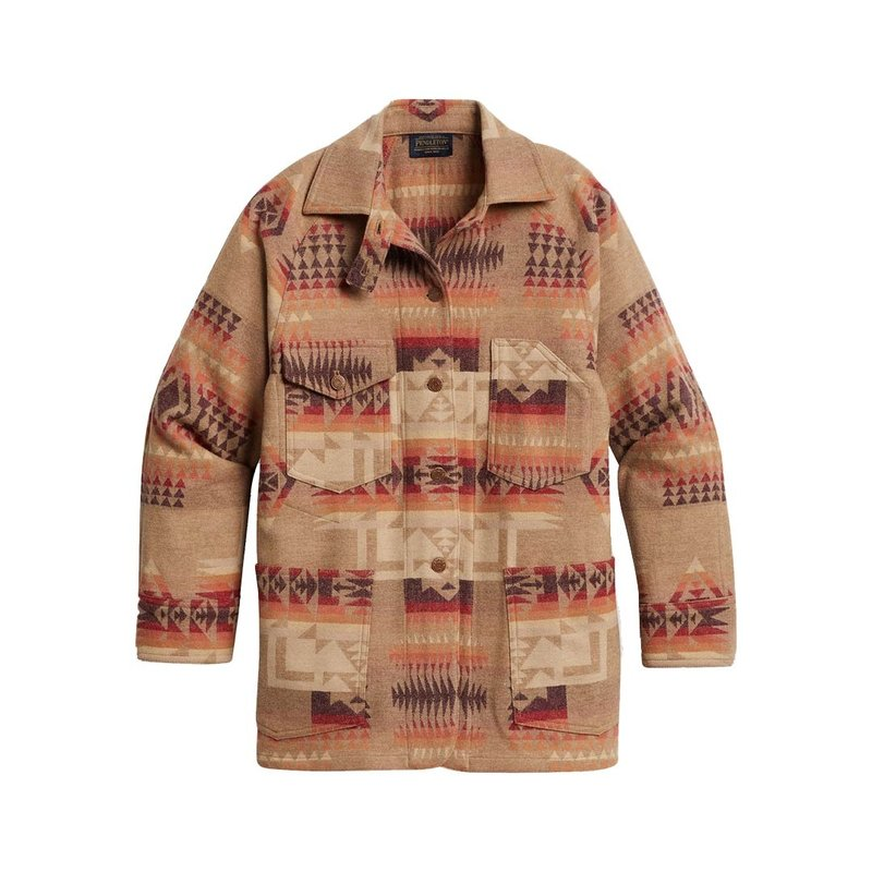 Pendleton Wool Work Jacket   Tan Chief Joseph Jacquard