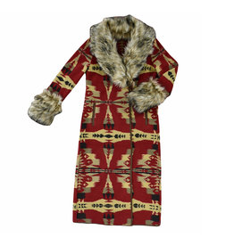Frontier Blanket Coat   Cardinal