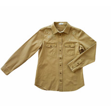 Tasha Polizzi   Weston Shirt   Tan