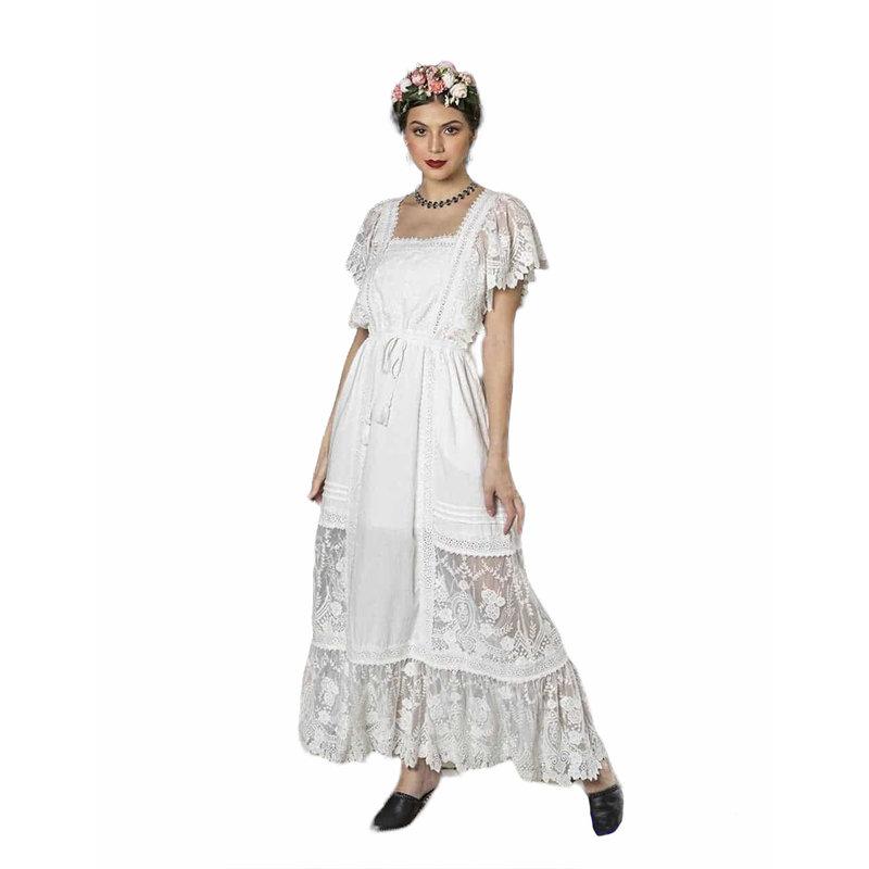 Tulle and Batiste Frida Maxi Dress | Snow White