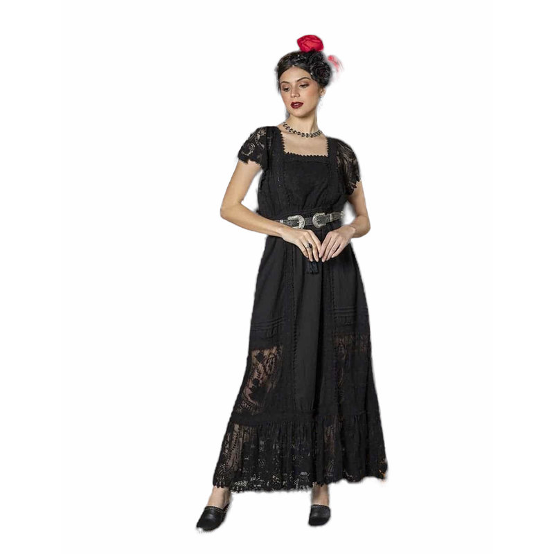 Tulle and Batiste Frida Maxi Dress | Moonless Black