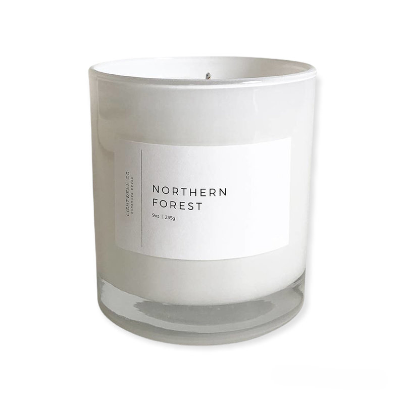 Lightwell Co. White Tumbler Candle | Northern Forest