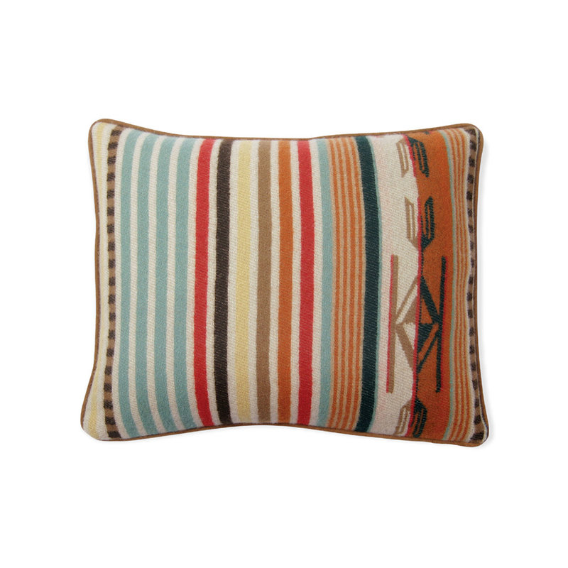 Pendleton Jacquard Pillow   12 x 15   Chimayo   Coral