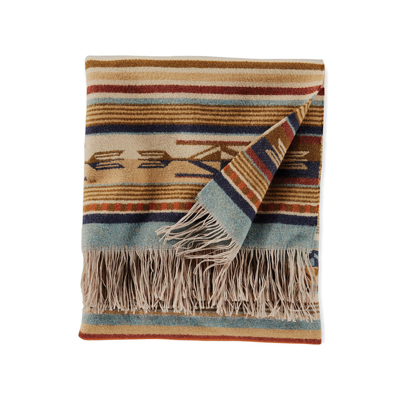 Pendleton Jacquard Fringed Throw Blanket   Chimayo Harvest