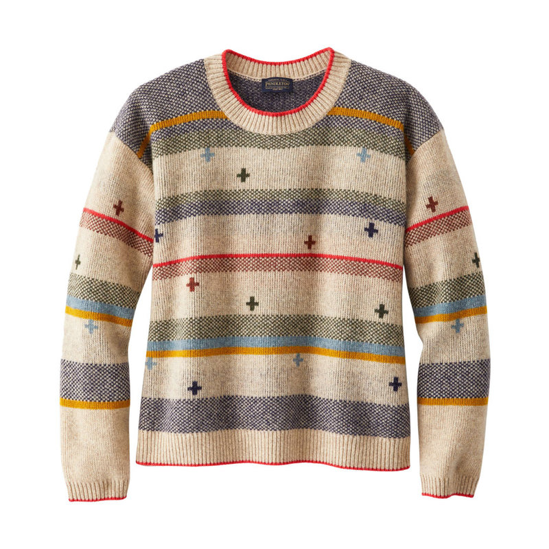 Pendleton Bridger Stripe Sweater | Tan Heather Stripe