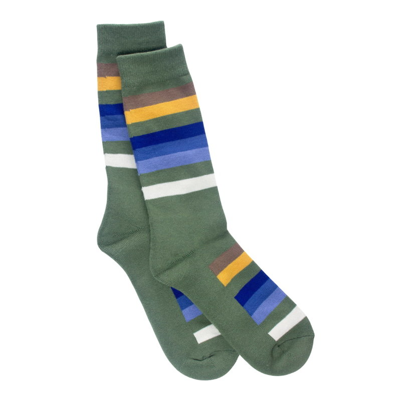 Pendleton Crew Socks   National Park Stripe   Rocky Mountain