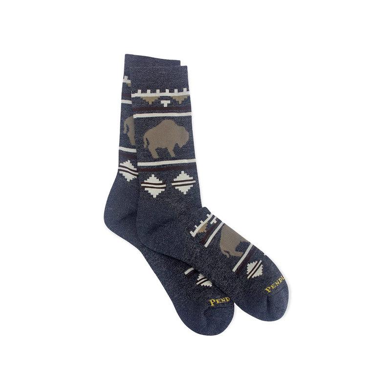 Pendleton Crew Socks   Roaming Bison