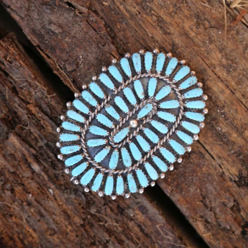 Sterling | Turquoise Navajo Pin