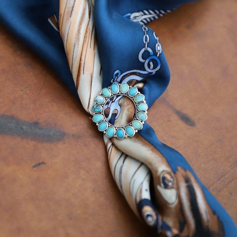 Round Turquoise Joe Eby Pin