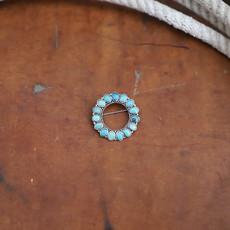 Peyote Bird | Round Turquoise Joe Eby Pin